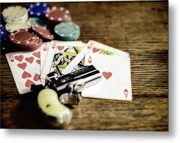 The Gambler Metal Print