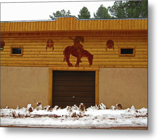 The Garage Metal Print