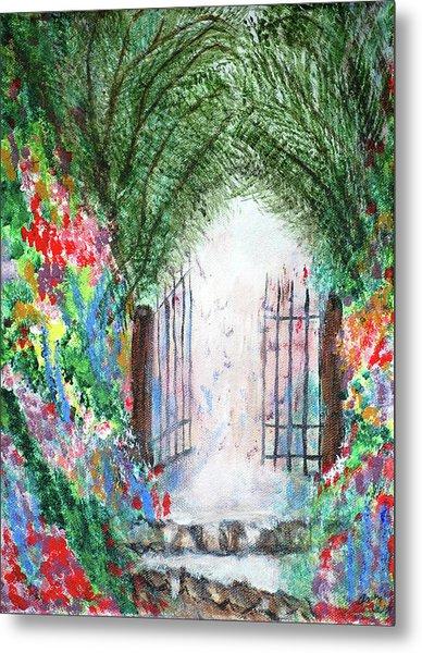 The Garden Gate Metal Print by Ann Ingham