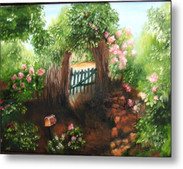 The Garden Gate Metal Print
