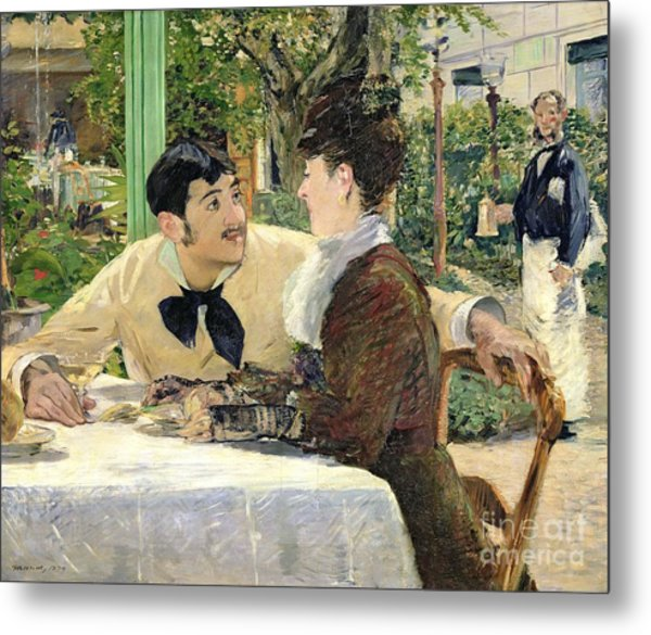 The Garden Of Pere Lathuille Metal Print