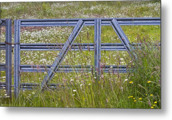 The Gate  II Metal Print by Rebecca Cozart