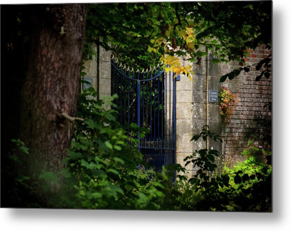 Metal Print featuring the photograph The Gate by Jeremy Lavender Photography
