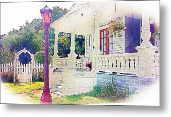 The Gate Porch And The Lamp Post Metal Print