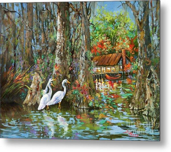 The Gathering - Louisiana Swamp Life Metal Print