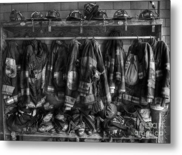 The Gear Of Heroes - Firemen - Fire Station Metal Print
