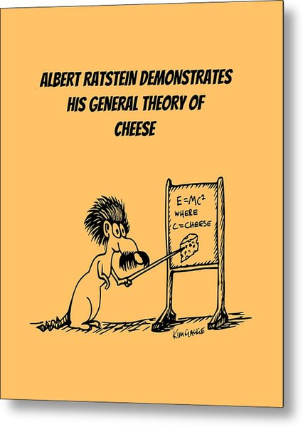 The General Theory Of Cheese Metal Print