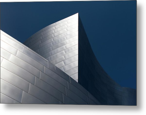 Metal Print featuring the photograph The Geometry Of Disney Hall by Lorraine Devon Wilke