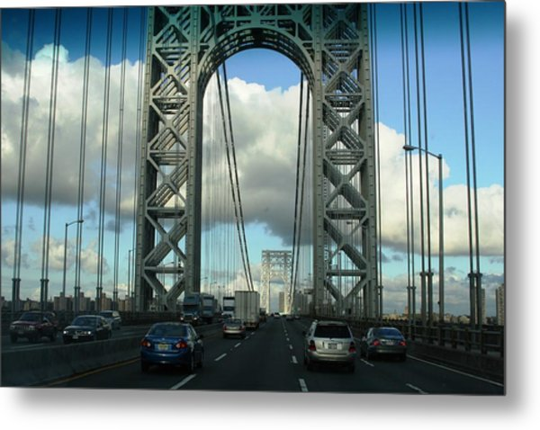 The George Washington Bridge  Metal Print by Paul SEQUENCE Ferguson             sequence dot net
