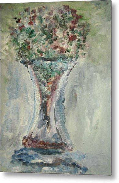 The Giant Goblet Vase Metal Print by Edward Wolverton
