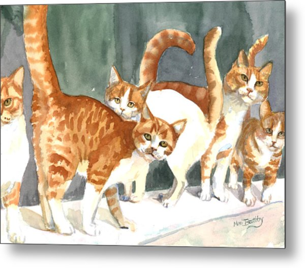 The Ginger Gang Metal Print