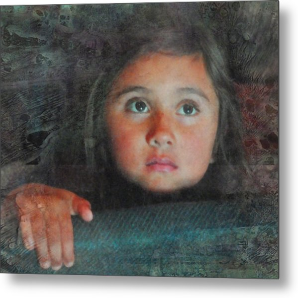 The Girl With The Chocolate Eyes Metal Print