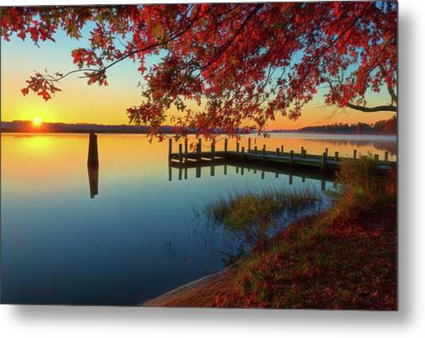The Glassy Patuxent Metal Print