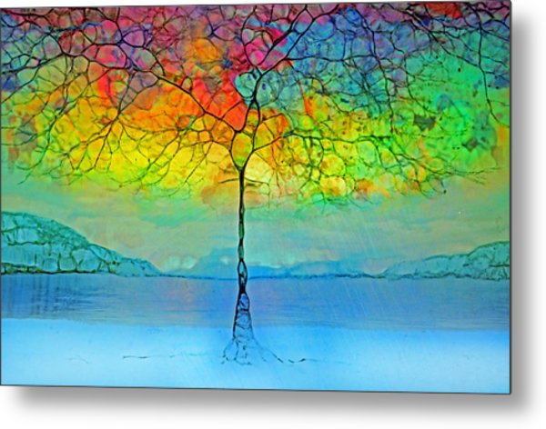 The Glow Tree Metal Print