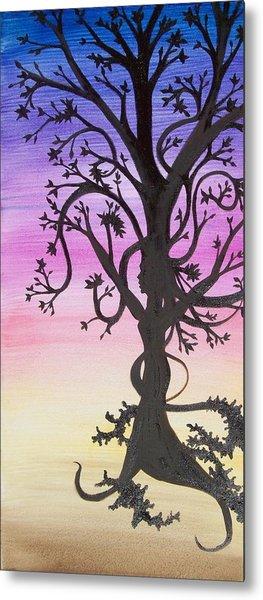 The Goddess Tree Metal Print by Amy Lauren Gettys