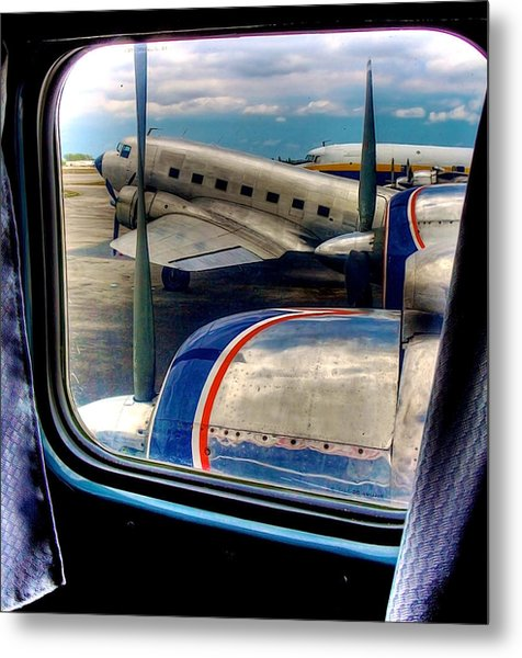 The Golden Age Of Flight -- Color Version Metal Print