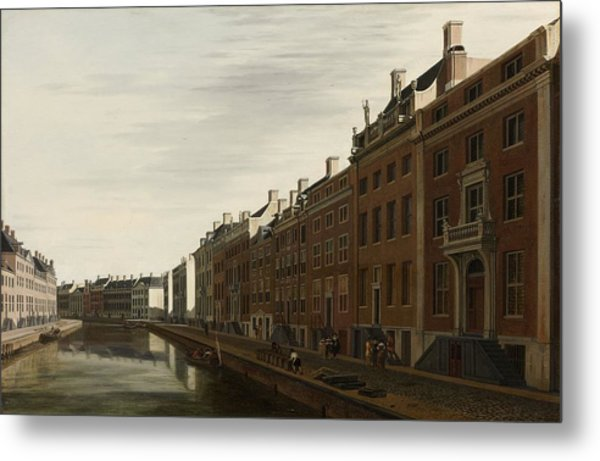 The Golden Bend In The Herengracht, Amsterdam, Seen From The West, 1672 Metal Print