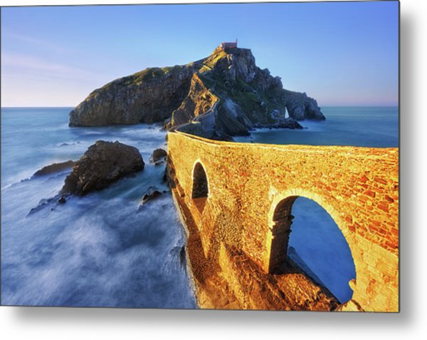 The Golden Bridge Metal Print