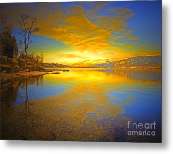 The Golden Clouds Of Winter Metal Print