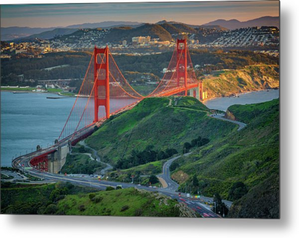 The Golden Gate At Sunset Metal Print