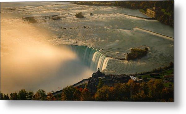 The Golden Mist Of Niagara Metal Print