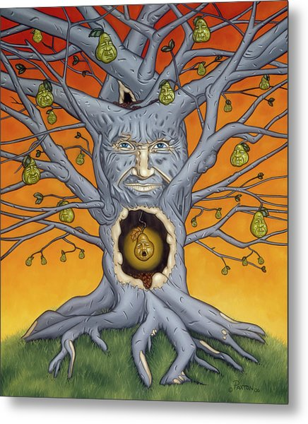 The Golden Pear Metal Print