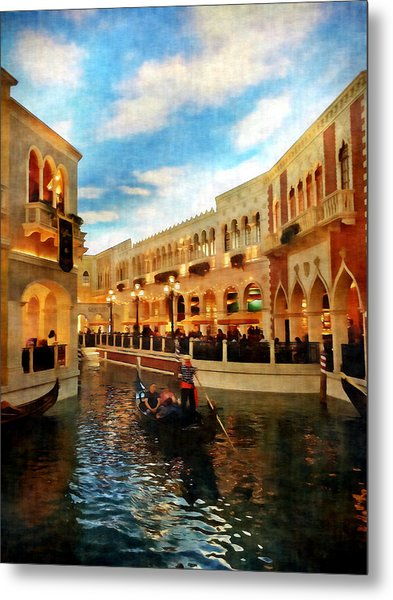The Gondolier Metal Print