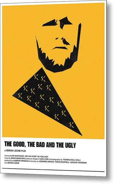 The Good Bad Ugly Clint Eastwood Poster Metal Print