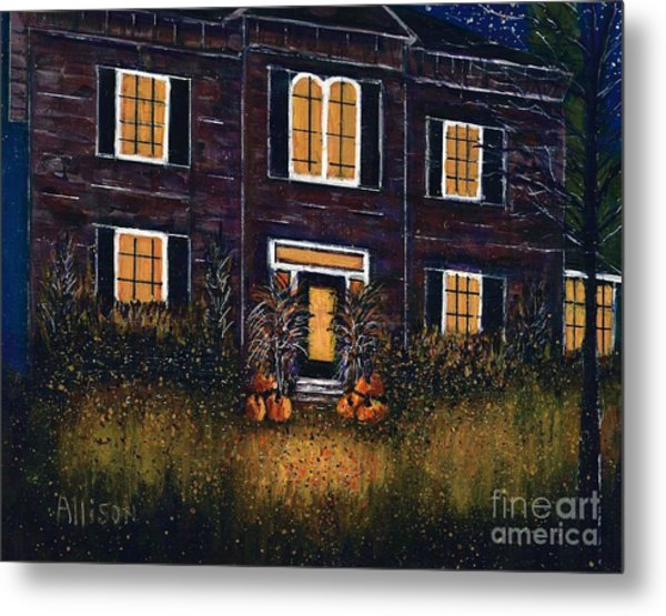 The Good Witch Grey House Metal Print