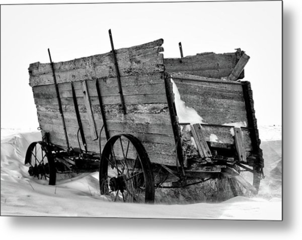 The Grain Wagon Metal Print