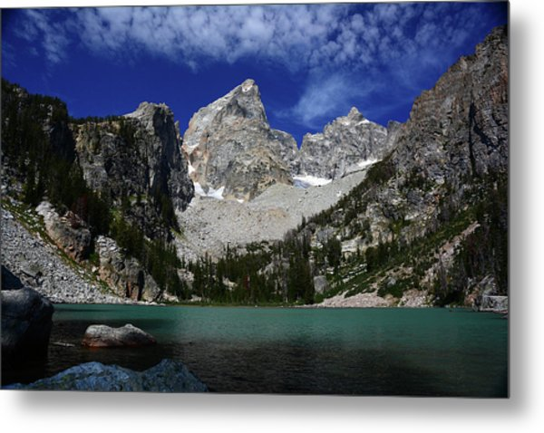The Grand And Mount Owen From Delta Lake Metal Print