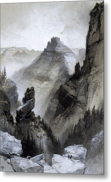 The Grand Canyon - Head Of The Old Hance Trail Metal Print