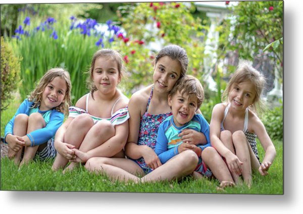The Grand Kids In The Garden Metal Print
