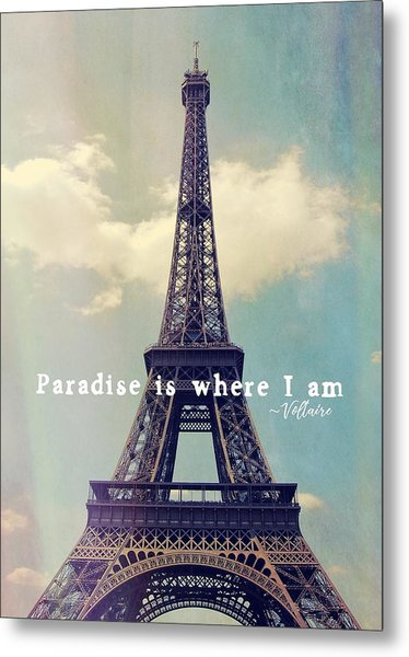 The Grande Dame Quote Metal Print by JAMART Photography