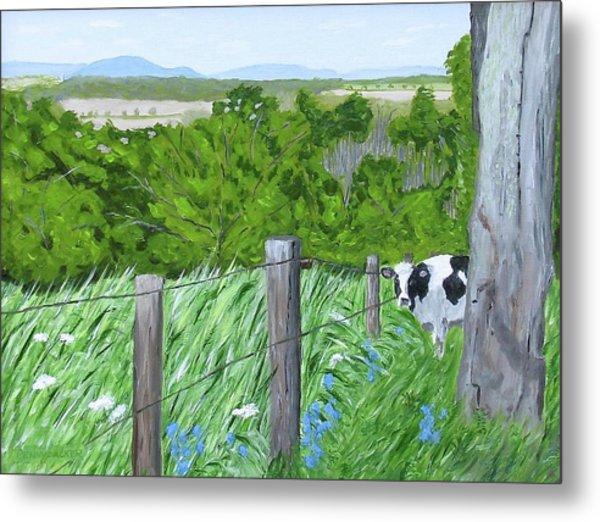 'the Grass Sings In The Meadow' Metal Print