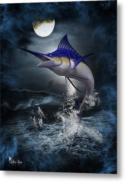The Great Blue Marlin Metal Print