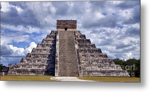 The Great Pyramid Of Chitzen Itza Metal Print