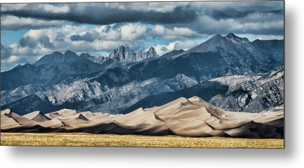 The Great Sand Dunes Panorama Metal Print