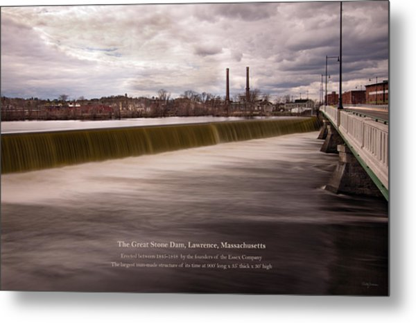 The Great Stone Dam Lawrence, Massachusetts Metal Print