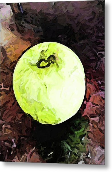 The Green Apple In The Bright Light Metal Print