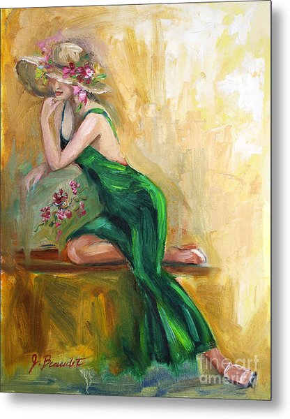 The Green Charmeuse  Metal Print