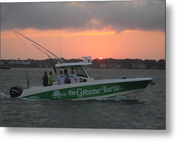 The Greene Turtle Power Boat Metal Print
