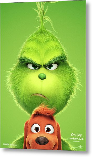 The Grinch 2018 A Metal Print