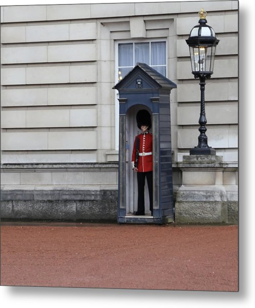 The Guard At Buckingham Palace Metal Print