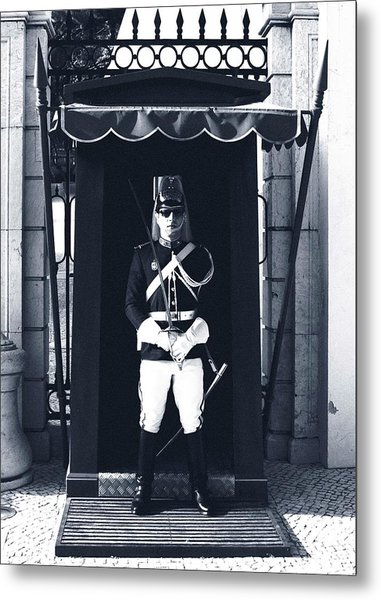 Metal Print featuring the photograph The Guard At The Palace by Lorraine Devon Wilke