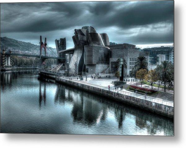 The Guggenheim Museum Bilbao Surreal Metal Print