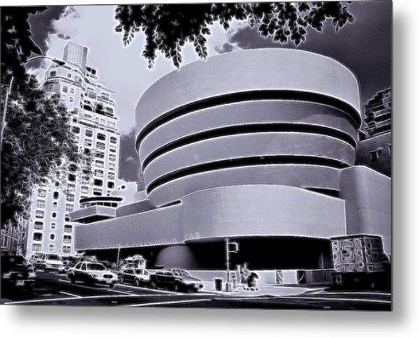 The Guggenheim Black And White Metal Print