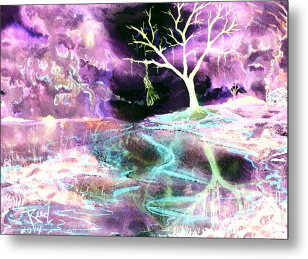 The Hanging Tree Inverted Metal Print