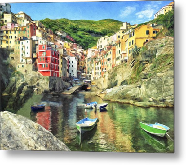 The Harbor At Rio Maggiore Metal Print