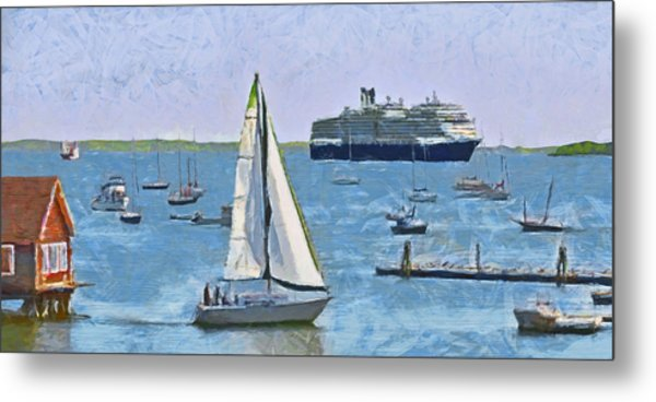 The Harbor At Rockland Maine Metal Print